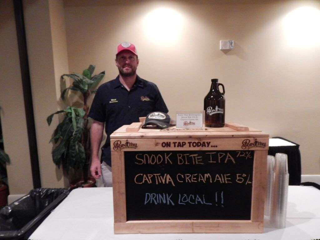 Drink Local sign at FL sustains events-snook bite