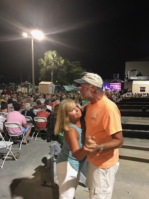 couple dancing at concert series-fort myers beach